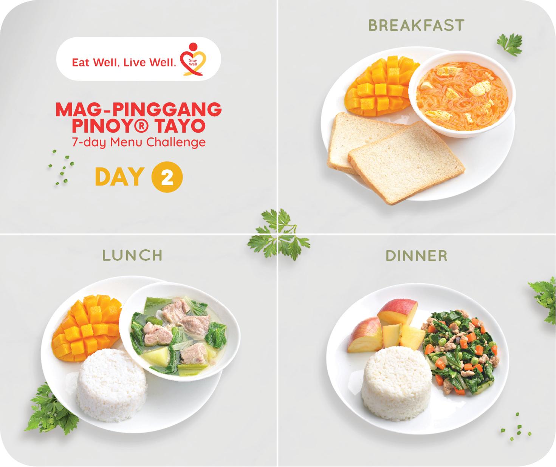Day 2 Mag-Pinggang Pinoy® Tayo 7-day Menu Challenge