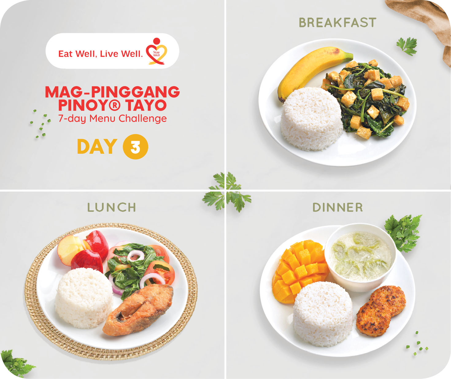 Day 3 Mag-Pinggang Pinoy® Tayo 7-day Menu Challenge