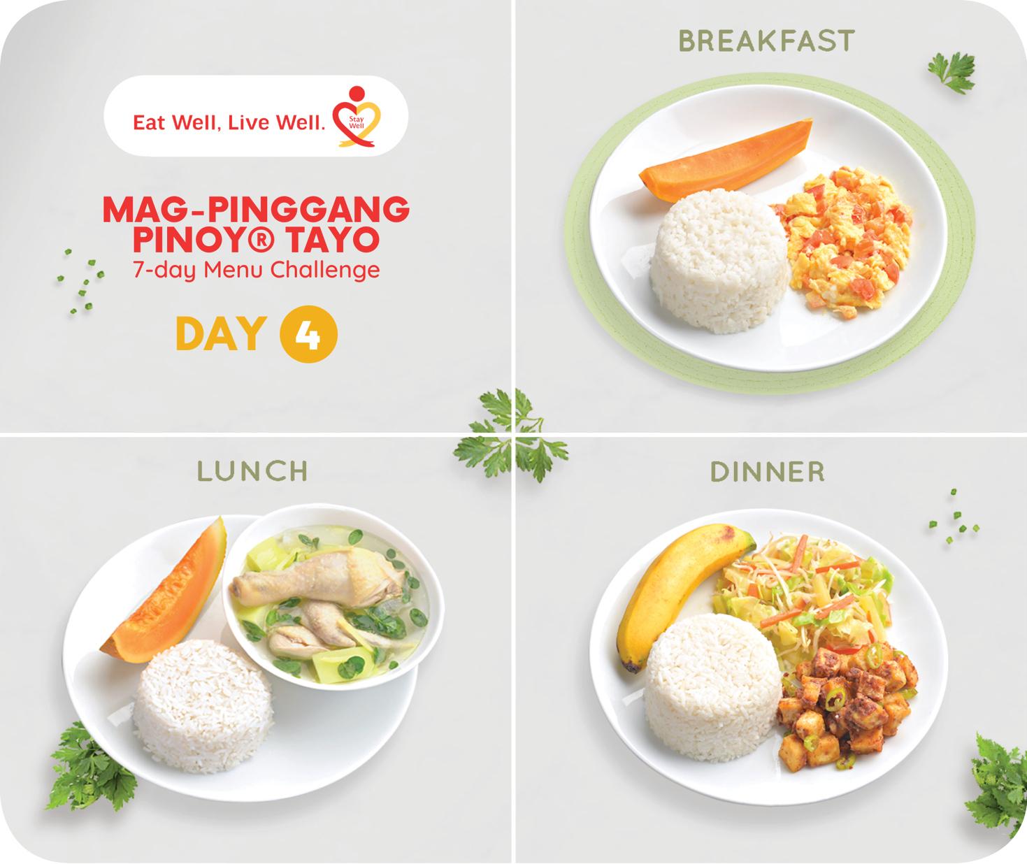 Day 4 Mag-Pinggang Pinoy® Tayo 7-day Menu Challenge