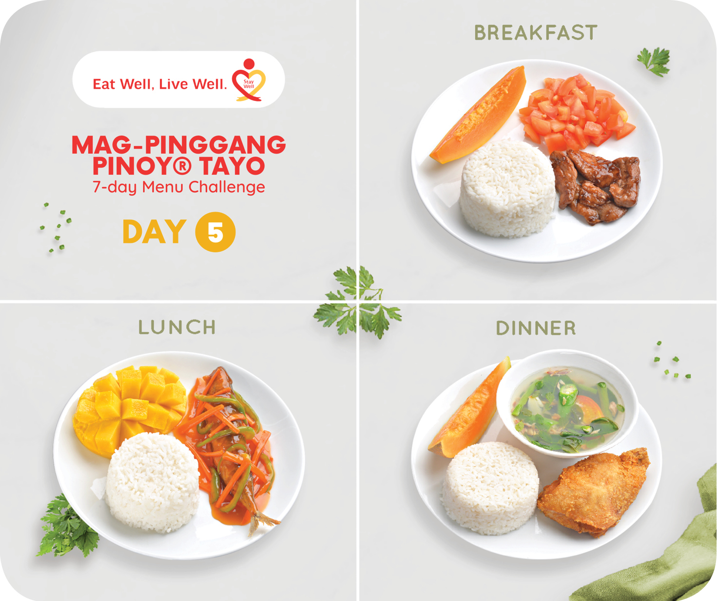 Day 5 Mag-Pinggang Pinoy® Tayo 7-day Menu Challenge