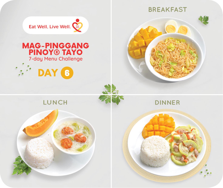 Day 6 Mag-Pinggang Pinoy® Tayo 7-day Menu Challenge