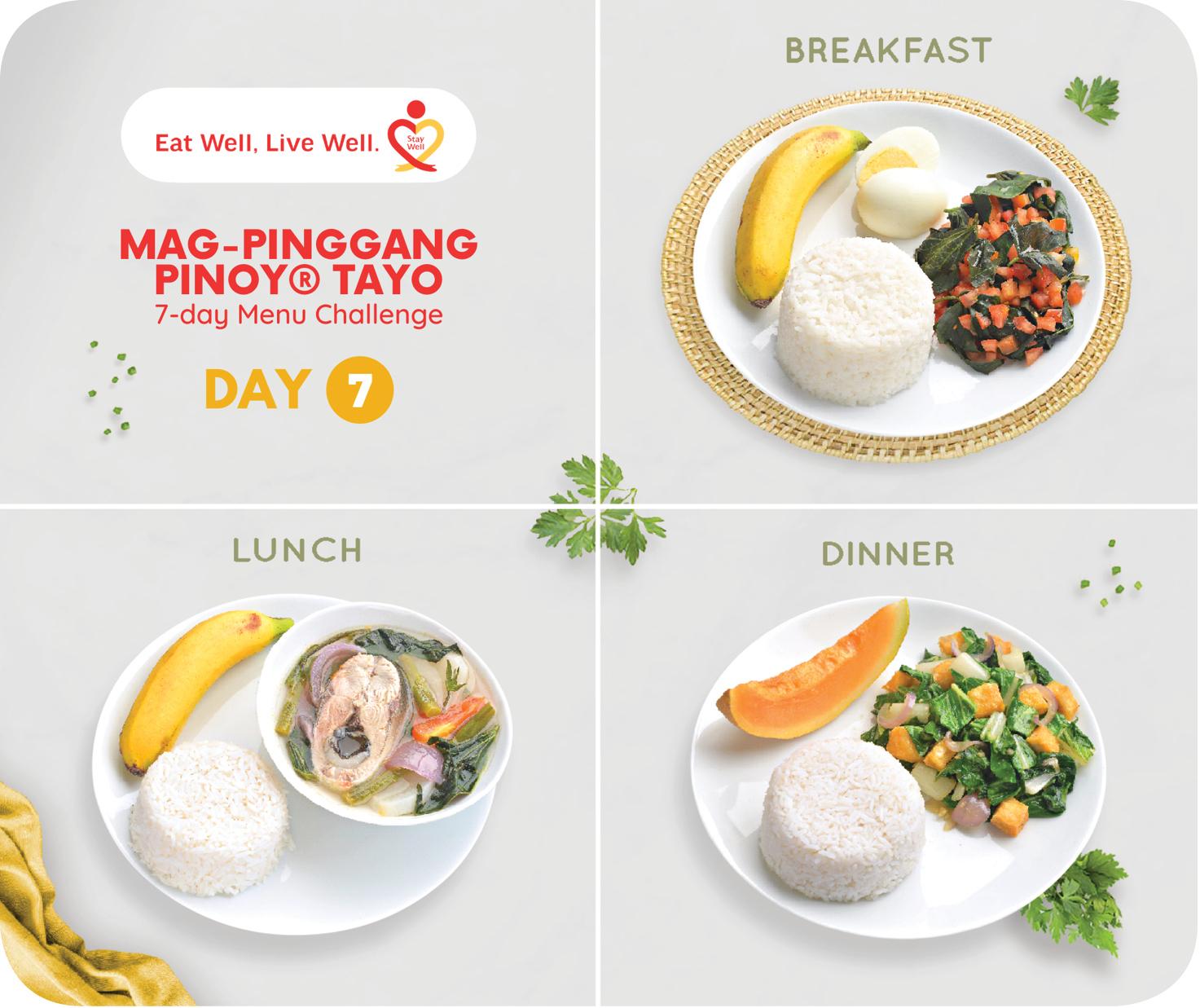Day 7 of Mag-Pinggang Pinoy® Tayo 7-day Menu Challenge
