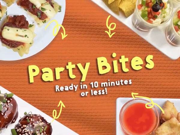 Party Bites in 10 Minutes