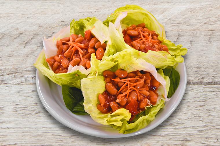 Pork & Beans Lettuce Cups