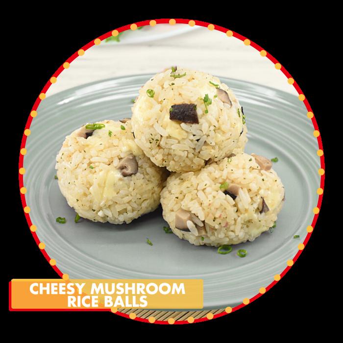 Cheesy Mushroom Rice Balls