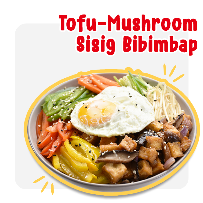 Tofu-Mushroom Sisig Bibimbap