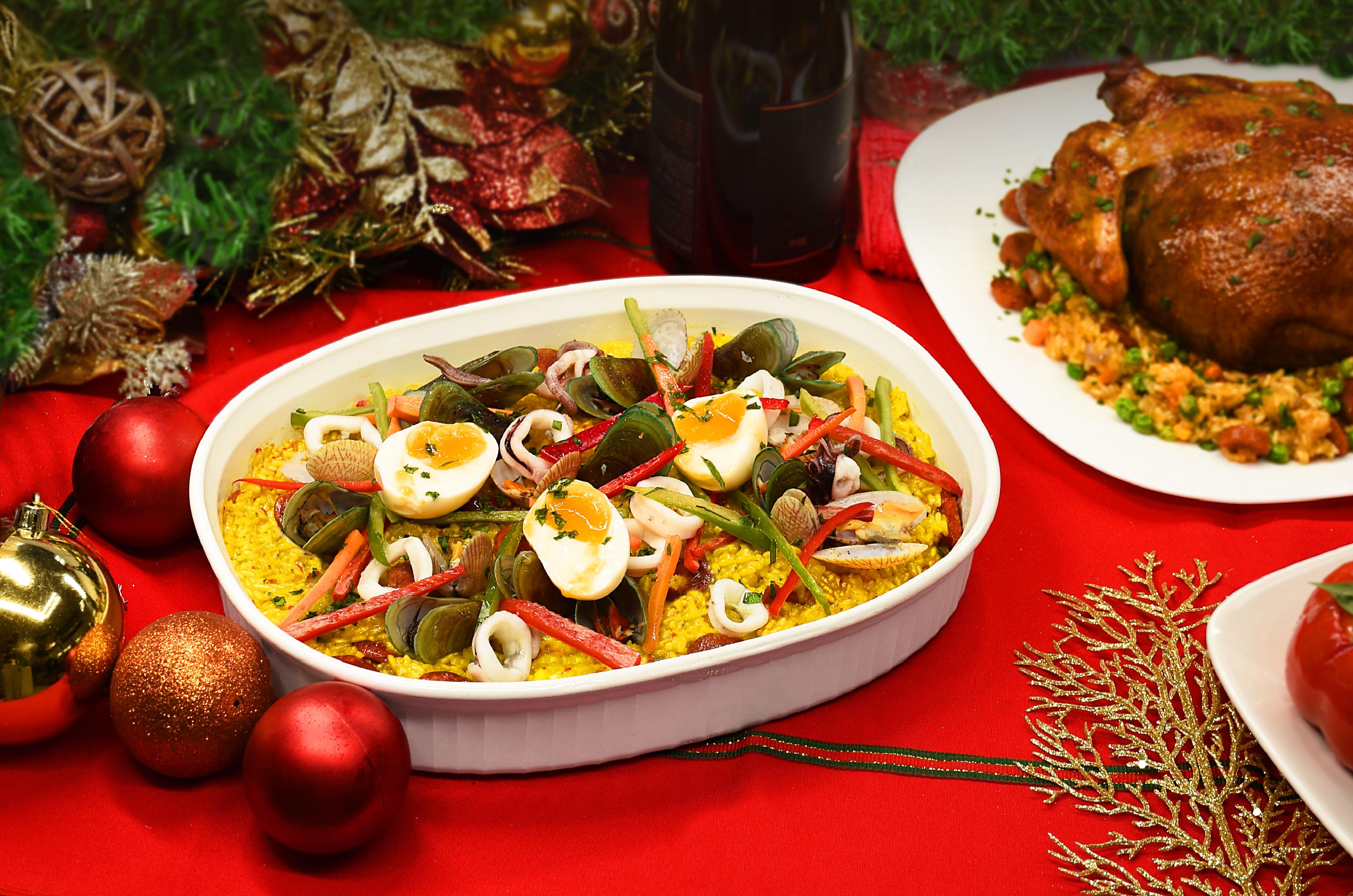 Seafood Bringhe