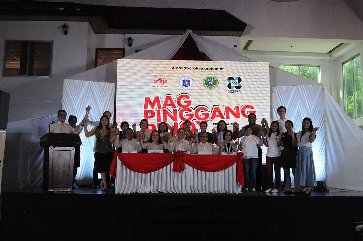Ajinomoto partners with DOH, DOST-FNRI, DepEd  for Mag-Pinggang Pinoy® Tayo! community project